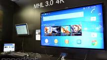 ソニーXperia Z2採用の新規格 MHL 3.0デモ。4K動画と10W給電、データ転送をマイクロUSB端子ひとつで実現