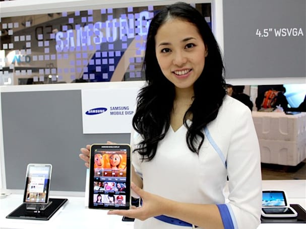 Samsung 7-inch Super AMOLED panel showcased on 'next gen' Galaxy Tab