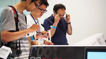 Engadget 例大祭: JINS MEMEハッカソン優秀作品の合コンアプリ「Eye Sync」お披露目 #egfes