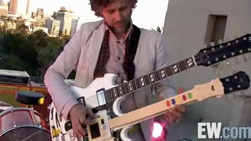 Flaming Lips frontman's double-neck 'Guitar Hero guitar'