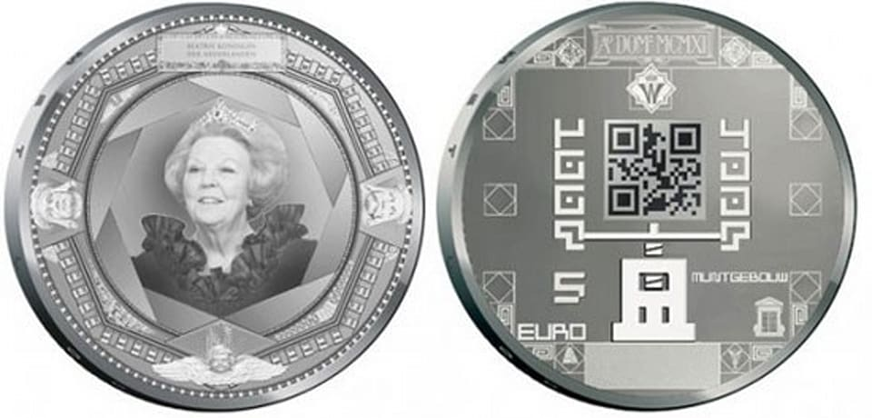 Dutch coins feature QR codes  Qr Code