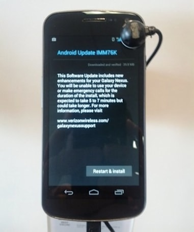 Galaxy Nexus for Verizon Wireless receives Android 4.0.4 update