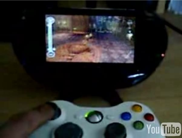 Use a 360 controller to play games on your modded PSP