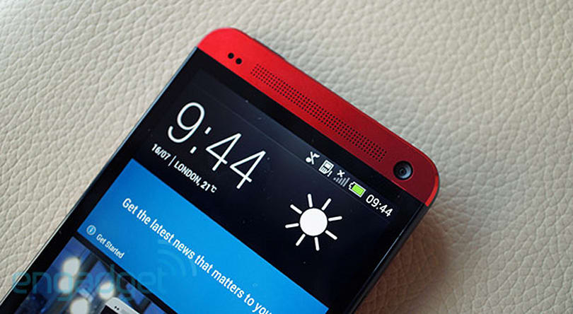 HTC One 'glamour red' hands-on