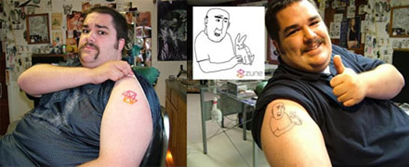 Zune tattoo guy gets Microsoft's attention