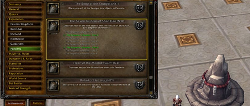 Mists of Pandaria beta: New achievements weave together exploration and lore