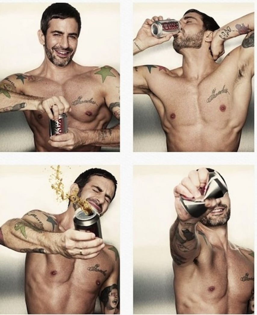 Marc Jacobs Takes His Shirt Off for Diet Coke