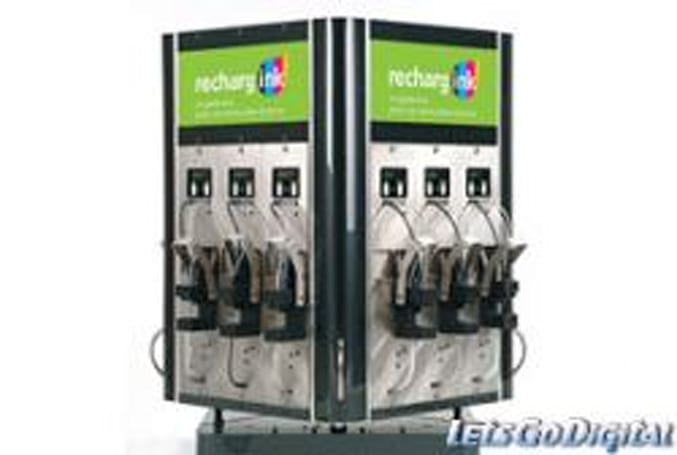 Rechargink, a soda fountain dispenser for inkjet cartridges