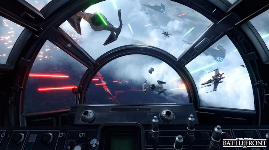 F 15 Cockpit  Star Wars Battlefront  a