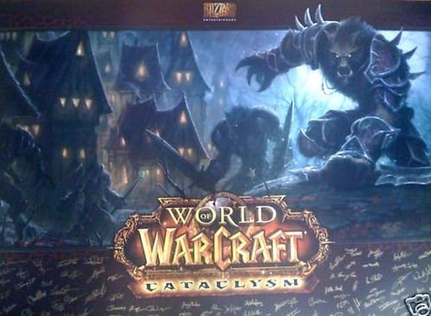 Signed World of Warcraft: Cataclysm poster up for auction on eBay
