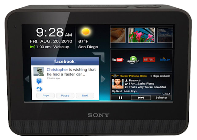 Sony introduces Dash Internet Viewer touchscreen tablet (Update: it runs Chumby OS!)