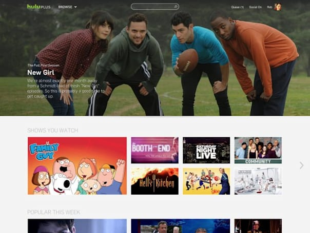 Hulu launches redesigned site with bigger artwork, 'tray-style format' of suggested shows