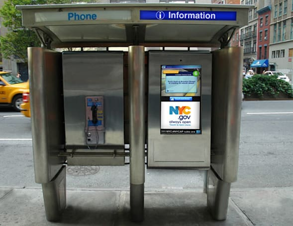 NYC phone booths to get second lives as slate stalls