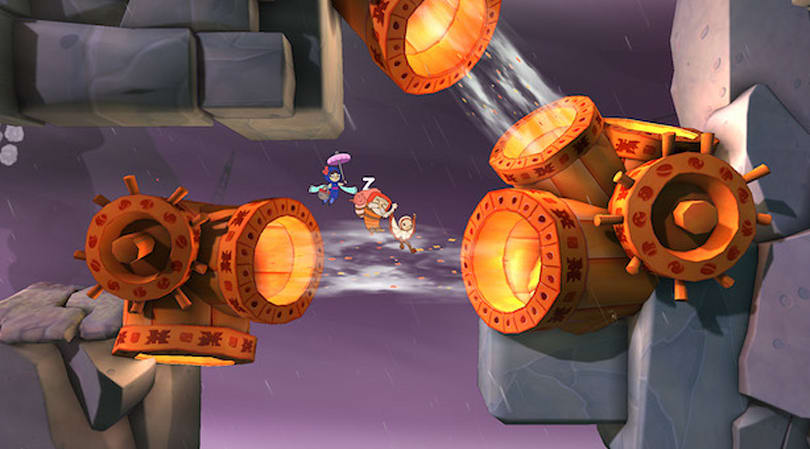 Flee from a toothy, clawed storm in 2.5D platformer Shu