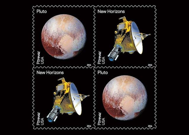 USPS debuts stamps with New Horizons' view of Pluto
