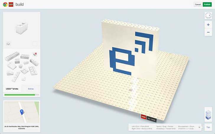 Lego and Google Chrome team up, want to cover Australasia in your models and plastic bricks (video)