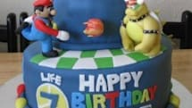Super Mario Galaxy cake is out of this world