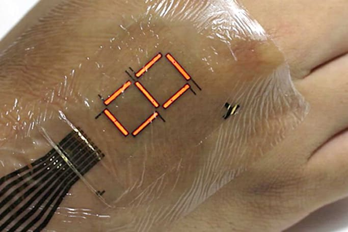 Extra-thin LEDs put a screen on your skin