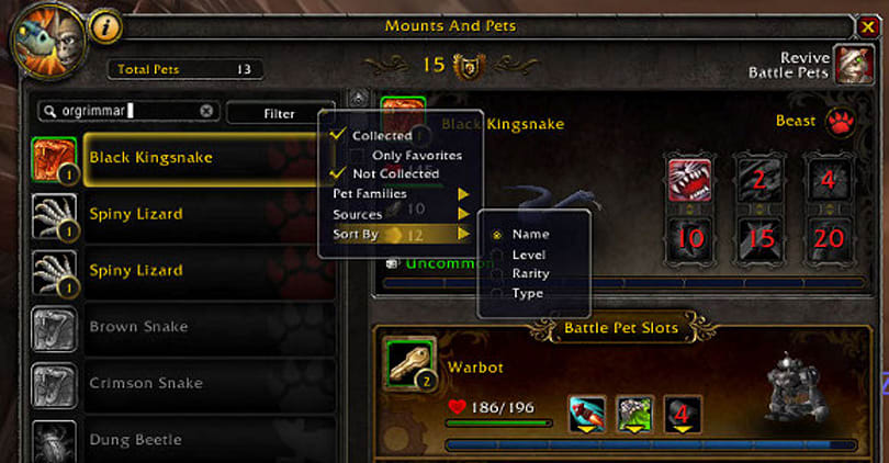 Patch 5.1: Pet battle UI changes