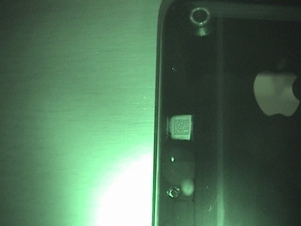 iPhone 3G has a hidden data matrix code