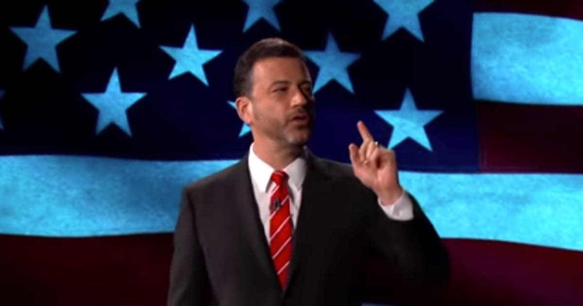 Jimmy Kimmel Vows To Grab 'Pumpkin' President Donald Trump 'By The Guts' For The Next 4 Years