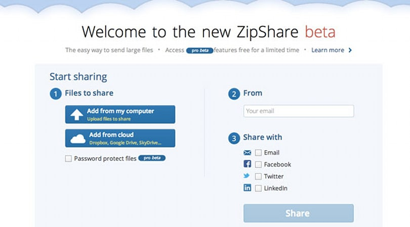 ZipShare from WinZip lets you manage all your cloud storage from one place