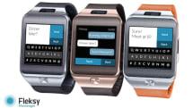 Fleksy brings a predictive messaging app to the Gear 2 smartwatch