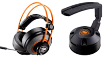 コスパに優れた耳覆い型ゲーム用ヘッドセットがCOUGARから。吸盤固定式で軽量なマウスケーブルホルダーも