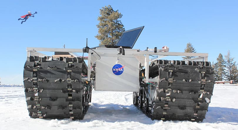 NASA's GROVER eco-rover to examine Greenland's ice sheet (video)