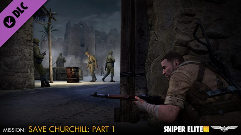 Save Churchill in part one of Sniper Elite 3 DLC