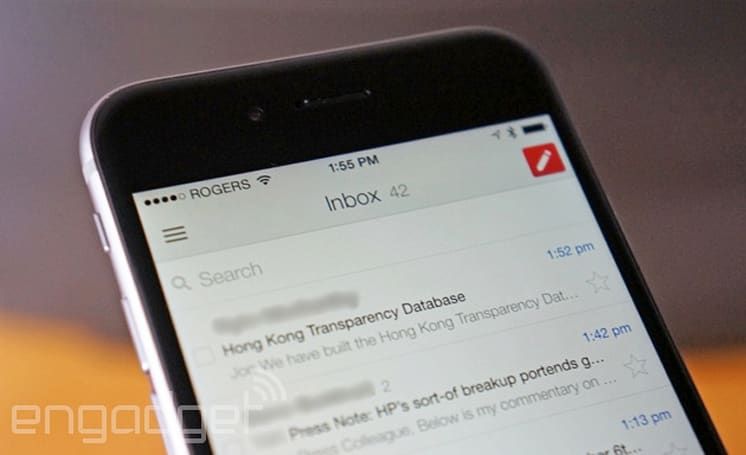 Gmail for iOS now takes full advantage of your iPhone 6