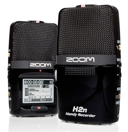 Zoom H2n portable recorder touts five internal mics, adjustable recording range