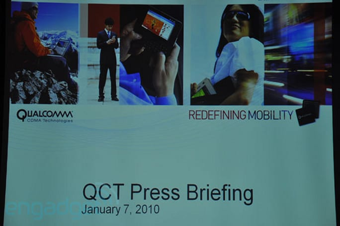 Live from Qualcomm CDMA Technologies' CES 2010 press event