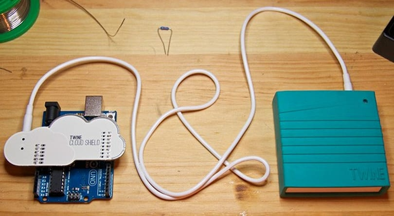 Twine Cloud Shield puts Arduino gadgets online in seconds (video)