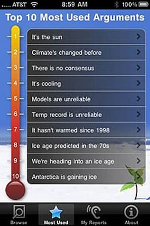 Want to argue about Global Warming? There's an app for that