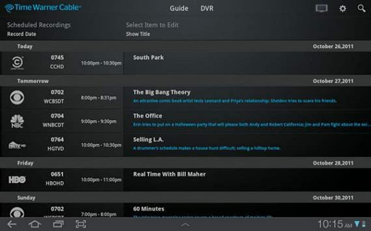 TWCable TV app in development for Android, should drop before the season's first 3-pointer (updated)