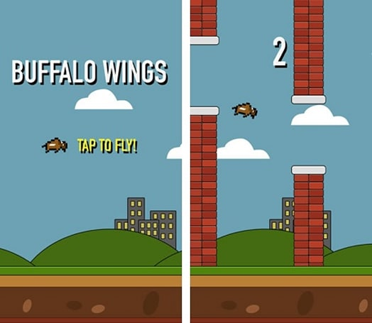 Buffalo Wings is a Flappy Bird clone and 'a fun little family experiment'