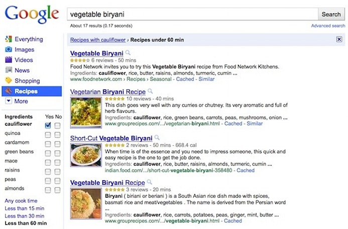 Google pulls Recipe View out of the oven