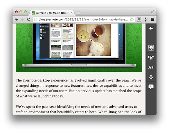 Evernote adds text-to-speech to Clearly Chrome extension, for Premium members only