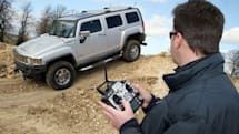 Hummer H3 converted into remote controlled vehicle