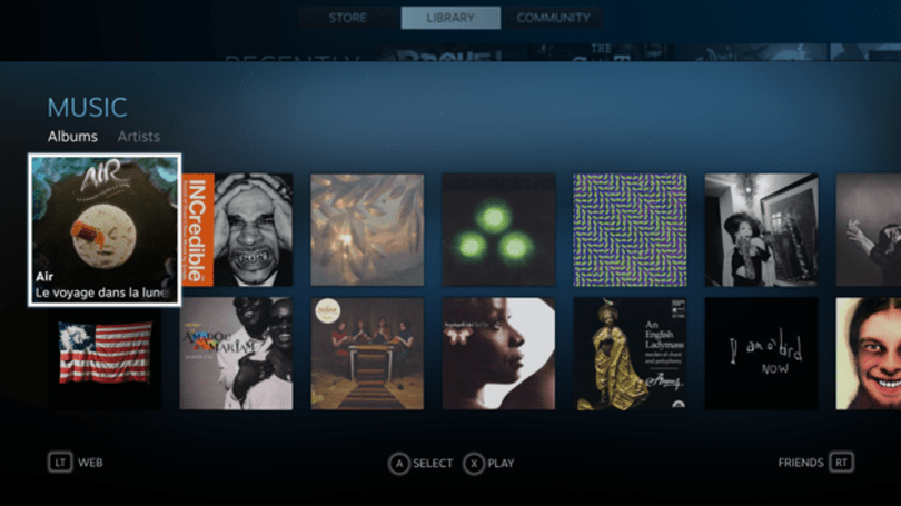 SteamOS gets a native music player in Steam Music