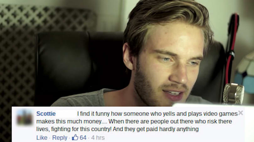 YouTube millionaire PewDiePie responds to his haters