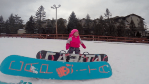 Toddler Snowboards For the First Time
