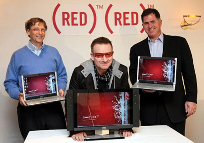 Dell and Microsoft get official with (PRODUCT) RED gear