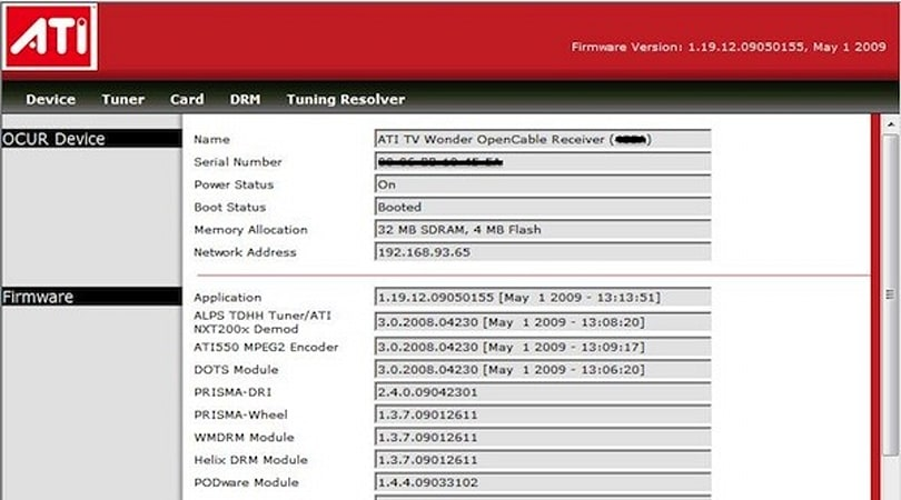 ATI DCT Firmware update pops up on Windows Update, DRM-free MCE recordings & SDV are a go