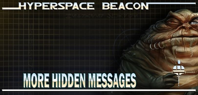 Hyperspace Beacon: More hidden messages