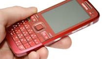 Nokia E55 blushes red for the camera