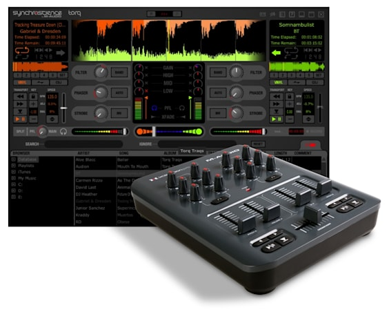 M-AUDIO busts out Torq MixLab Digital DJ System