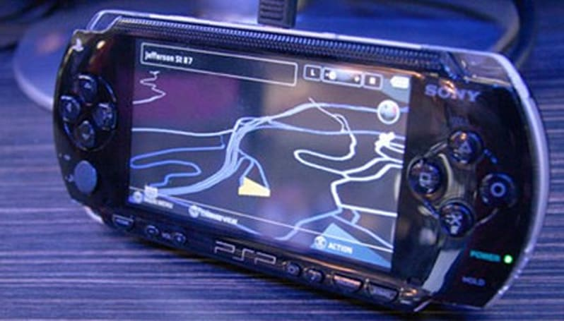 Sony's PSP navigates the floors of GDC 2008
