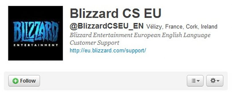 Blizzard opens EU customer service Twitter account